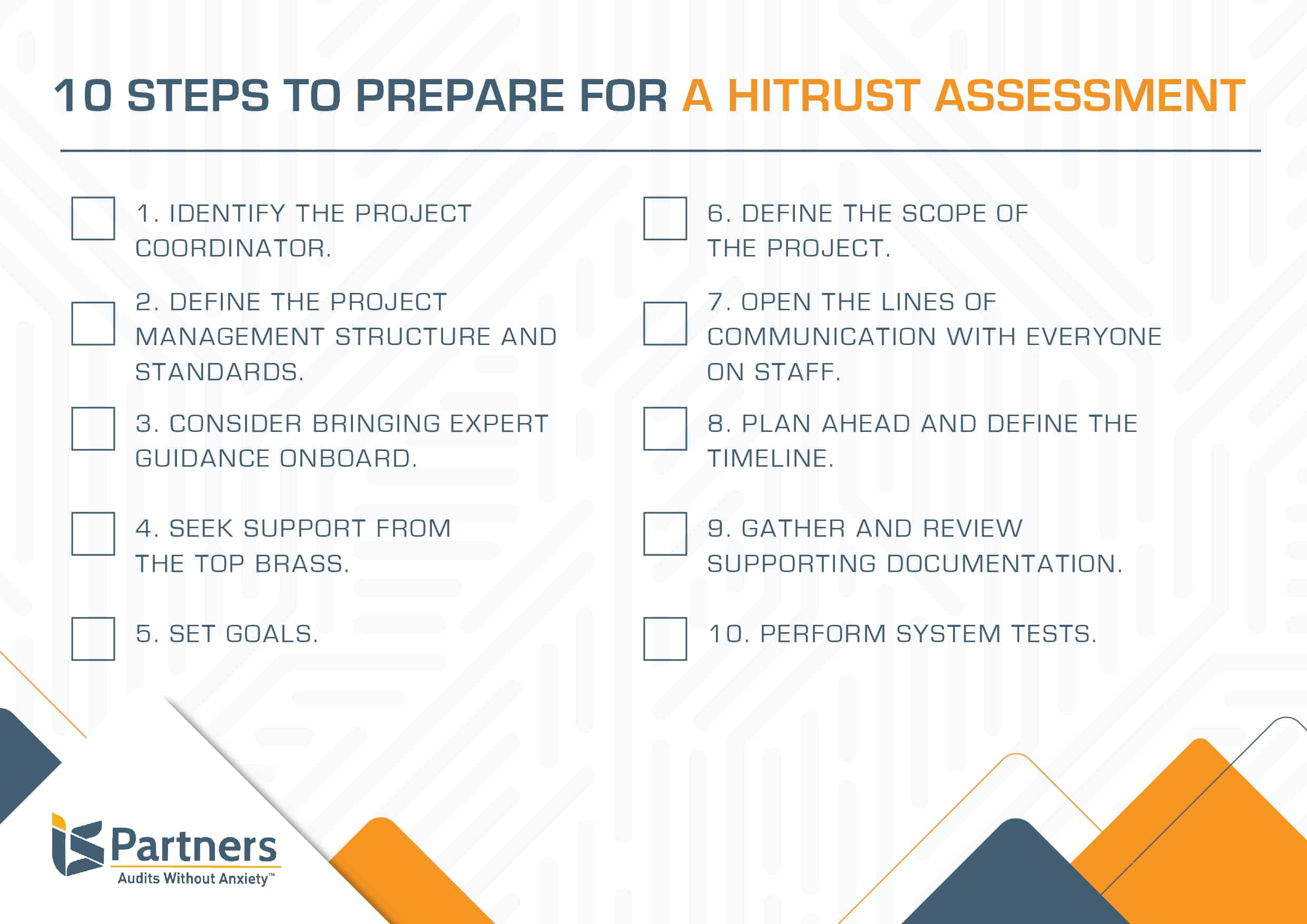 Checklist to help prepare for HITRUST assessment