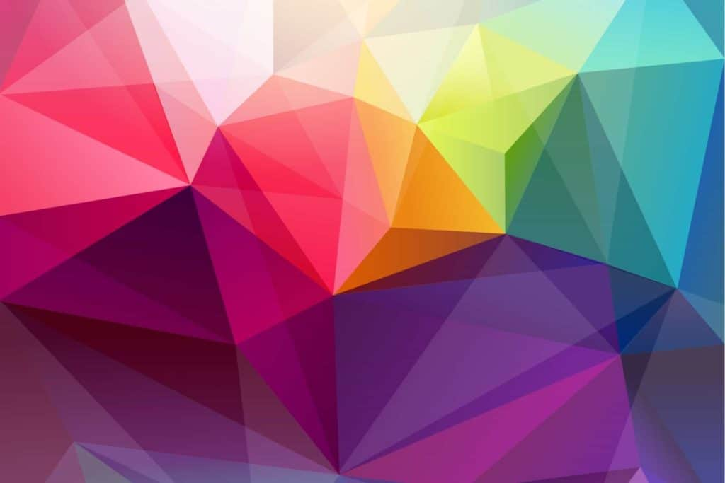 Abstract image of colorful prismatic shapes.