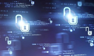 Digital cyber security background.