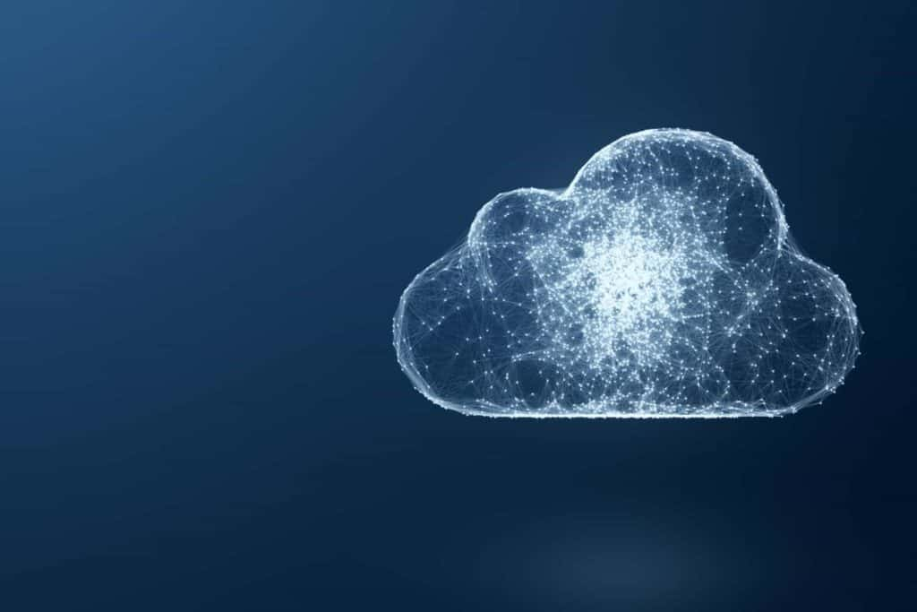 A cloud full of energy against a dark background.