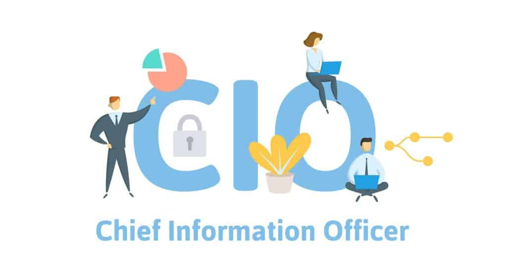 CIO, Chief Information Officer. Concept with Flat vector illustration