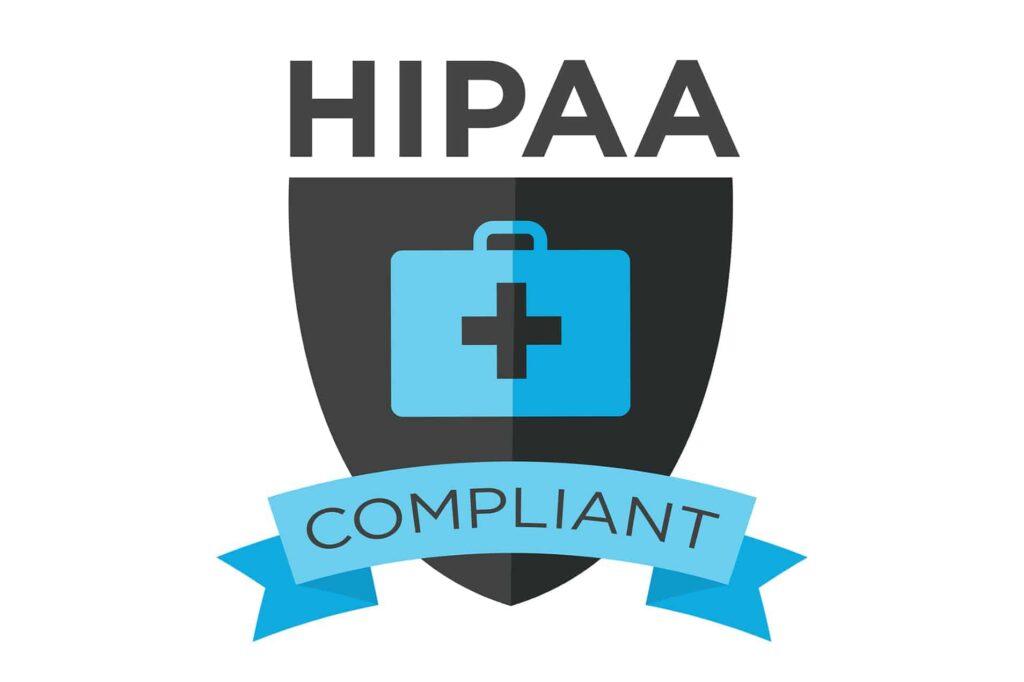 a badge proving HIPAA compliance