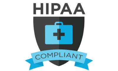 a badge proving HIPAA compliance
