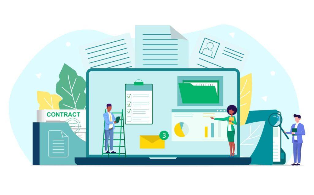 Illustration of an internal audit concept